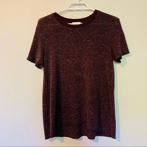 Aritzia Wilfred Maroon Oversized Shirt
